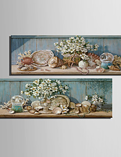 Vida Imóvel / Botânico Impressão em tela Dois Painéis Pronto para pendurar , Vertical