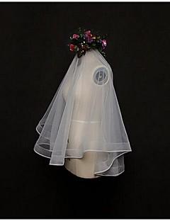 Wedding Veil One-tier Blusher Veils / Elbow Veils / Fingertip Veils Lace Applique Edge Tulle