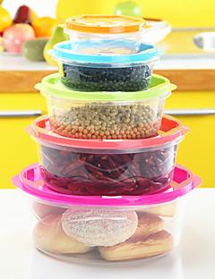 5PC de bescherming van het milieu de koelkast alimental behoud van de opbergbox