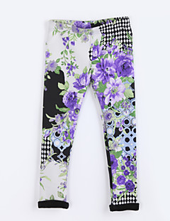 Girl's Casual/Daily Print Pants / LeggingsCotton Fall Purple