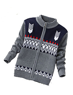 Boy's Casual/Daily Print Sweater & CardiganCashmere / Wool Winter / Spring / Fall Black / Gray