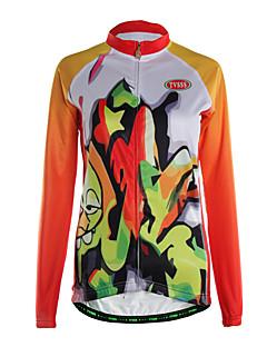 ספורטיבי ג'קט לרכיבה לנשים שרוול ארוך אופניים נושם / שמור על חום הגוף / רוכסן קדמי / כיס אחורי / בד קל מאוד ג'רזיפוליאסטר / גיזות /