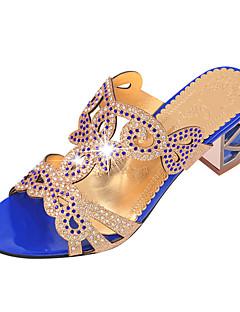 Sandaler-Glitter PU-Slingback Sko-Damer--Fritid-Tyk hæl