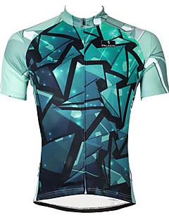 PALADIN® Cykeltrøje Herre Kort Ærme CykelÅndbart Hurtigtørrende Ultraviolet Resistent Komprimering letvægtsmateriale Tilbage til lomme