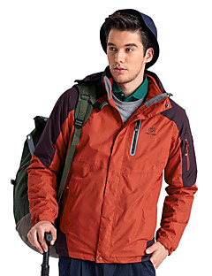 Hiking Softshell Jacket Unisex Waterproof / Breathable / Thermal / Warm / Windproof / Wearable  TeryleneYellow / Red
