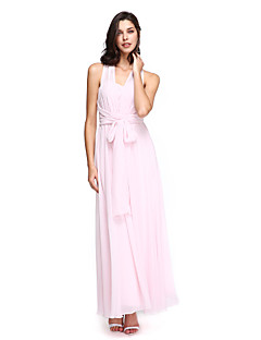 LAN TING BRIDE Ankle-length Sweetheart Bridesmaid Dress - Convertible Dress Sleeveless Chiffon
