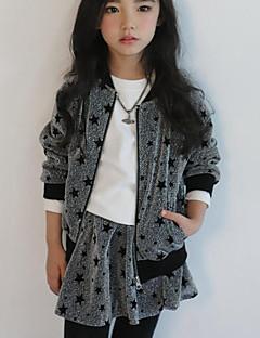 Mädchen Anzug & Blazer-Lässig/Alltäglich Leopard Polyester Frühling / Herbst Grau