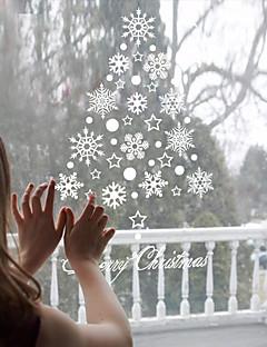 Noël / Vacances Stickers muraux Stickers avion / Miroirs Muraux Autocollants Stickers muraux décoratifs / Stickers de frigo,PVC Matériel
