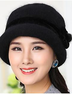 כובע צמר פרוות ארנב סתיו יום יומי נשים