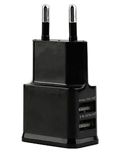 2 Dva porty USB nabíječka EU Plug pro Samsung a iPhone Smartphone zařízení