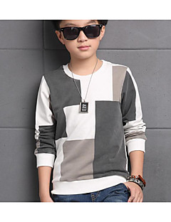 Boy Casual/Daily Color Block Blouse,Cotton Winter Long Sleeve