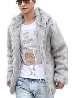 Masculino Casaco de Pêlo Escritório/Carreira Cerimônia Palco Formal Ano Novo Elegante & Luxuoso Inverno,Côr Sólida Padrão N/D Decote V