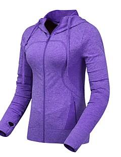 Mulheres Manga Comprida Corrida Jaqueta Pulôver Respirável Térmico/Quente Confortável Primavera Verão Outono Moda EsportivaEsportes