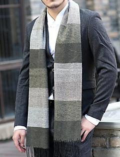 Muž Na běžné nošení Umělá kožešina Šátek,Obdélníkový Barevné bloky