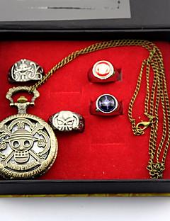 Relógio / Mais Acessórios Inspirado por One Piece Monkey D. Luffy Anime Acessórios de Cosplay Relógio / Anel Dourado Liga