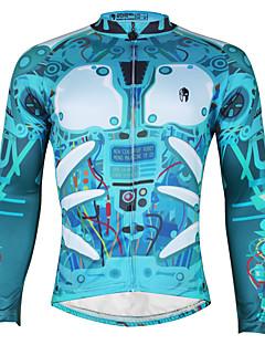 PALADIN® Camisa para Ciclismo Homens Manga Comprida MotoRespirável / Secagem Rápida / Resistente Raios Ultravioleta / Tiras Refletoras /
