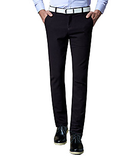 Men's Plus Size Straight / Slim Chinos / Business Pants,Going out / Casual/Daily / Work Sexy / Vintage / Simple Solid Low RiseZipper /