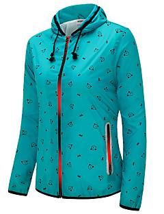 לנשים שרוול ארוך ריצה ג'קט סווטשירט נושם עמיד חומרים קלים נוח אביב קיץ סתיו בגדי ספורט ספורט פנאי רכיבה על אופניים/אופנייים ריצה רזה רזה