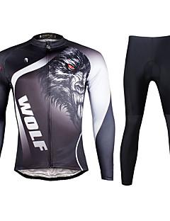 PALADIN® Calça com Camisa para Ciclismo Homens Manga Comprida MotoRespirável / Secagem Rápida / Resistente Raios Ultravioleta / Tapete 3D