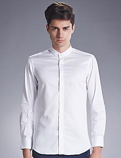 Muži Jednobarevné Svatba / Sportovní Vintage Košile Bavlna Košilový límec Dlouhý rukáv Modrá