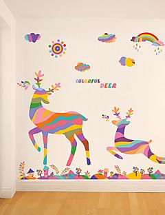 Animaux / Noël Stickers muraux Stickers avion Stickers muraux décoratifs,pvc Matériel Amovible Décoration d'intérieur Wall Decal