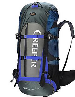 60 L Retkeilyreput Travel Organizer Backpack Retkeily ja vaellus Matkailu Monitoiminen Nylon