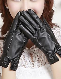 женские пу длина Bowknot запястье кончики пальцев добавить шерсть расстроен мило / партии / вскользь способа зимы теплые перчатки