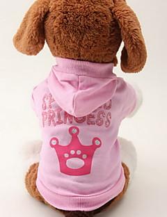 katten / honden Hoodies Roze Hondenkleding Lente/Herfst Tiara's & Kronen Modieus