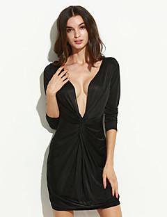 שמלה - מעל הברך - ספנדקס/פוליאסטר - סקסי/צינור (צמוד לגוף)