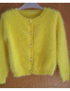 בינוני (מדיום) אביב / חורף אחרים שרוול ארוך צווארון עגול כחול / צהוב אחיד וינטאג' / סגנון רחוב מסיבה\קוקטייל / ליציאה קרדיגן רגיל נשים