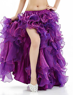 Belly Dance Tutus & Skirts Women's Performance Spandex Split Front 1 Piece Sleeveless Dropped Skirt 96