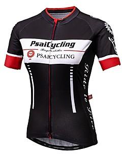 ספורטיבי לנשים שרוול קצר אופנייםנושם / ייבוש מהיר / עמיד אולטרה סגול / הגנה בפני קרינה / לביש / נגד חשמל סטטי / חדירות גבוהה לאוויר (מעל