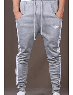 Men's Mid Rise Micro-elastic Active Chinos Sweatpants Pants,Simple Active Straight Harem Solid