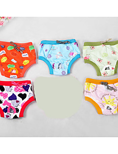Dog Pants Multicolor Dog Clothes Summer Spring/Fall Cartoon Cute Casual/Daily