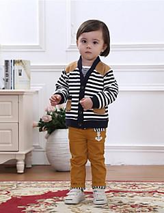 Dječaci Pamuk Prugasti uzorak Ležerno/za svaki dan / Sportske / Vjenčanje Jesen / Proljeće Dugih rukava Setovi Komplet odjeće