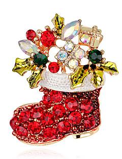 Naisten Rintaneulat Muoti joulua pukukorut Cross Shape Korut Käyttötarkoitus Party Erikoistilaisuus Syntymäpäivä Päivittäin Kausaliteetti