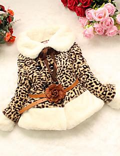 Menina Capa & Casaco Duvet Casual Leopardo Inverno Outros Manga Longa