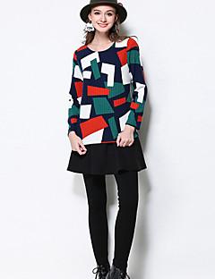 Dame Simpel Tætsiddende Bukser Elastisk Bomuld / Polyester
