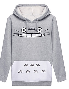 Inspired by My Neighbor Totoro Cat Anime Cosplay Costumes Cosplay Hoodies Print Long Sleeve Coat For Unisex