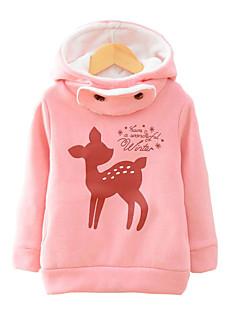 Pige Hættetrøje og sweatshirt I-byen-tøj / Casual/hverdag Trykt mønster,Bomuld Vinter / Forår / Efterår Langærmet Normal