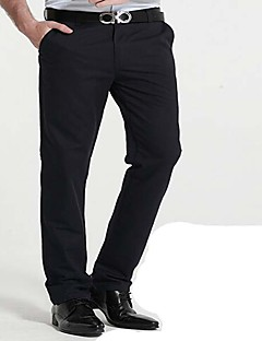 Men's Mid Rise Micro-elastic Chinos Business Pants,Chinoiserie Loose Solid