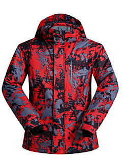 Hiking Tops Men's Waterproof / Thermal / Warm / Windproof / Insulated / Comfortable Spring / Fall/Autumn / Winter Cotton / TeryleneGreen