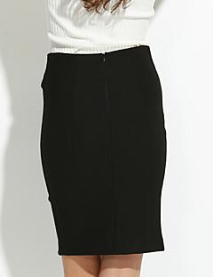 Nais- Plus-koko / Katutyyli Reisipituinen Polyesteri Hameet ,  Mikrojoustava