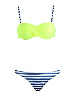 Kvinders Polyester Bandeau Ensfarvet Bikini