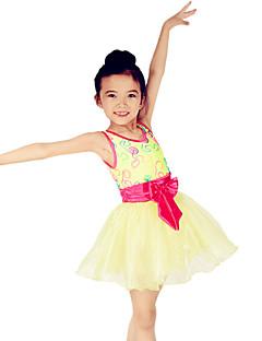 Danse classique Robes Enfant Spectacle Elasthanne Polyester Organza Lycra Broderie Nœud papillon Ceinture/Ruban Bloc de Couleur 1 Pièce