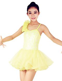 Danse classique Robes Femme Enfant Spectacle Polyester Organza Paillété Tulle Lycra Volants Ruchés plongeants Robe pan volant 1 PièceSans
