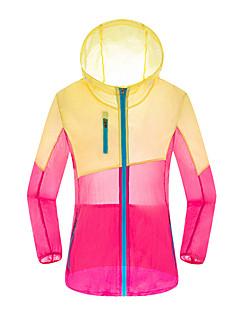 Women's Long Sleeve Running Sweatshirt Windbreakers Sun Protection ClothingWaterproof Breathable Quick Dry Windproof Ultraviolet