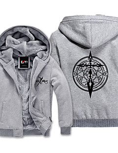 Inspired by Fate/Zero Cosplay Anime Cosplay Costumes Cosplay Hoodies Print Gray Long Sleeve Top