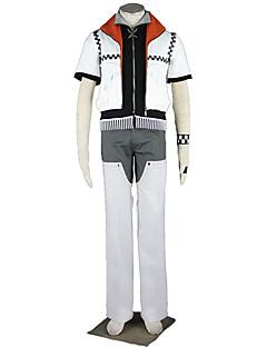 Inspirado por Kingdom Hearts Fantasias Anime Fantasias de Cosplay Ternos de Cosplay Cor Única Casaco Calças Braceletes Luvas Para