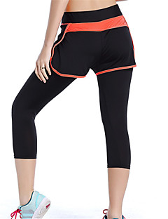 Women's Running Shorts 3/4 Tights Breathable Quick Dry Comfortable Spring Summer Fall/Autumn Winter Exercise & Fitness Running Spandex